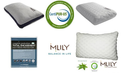 milly memory foam pillows picture